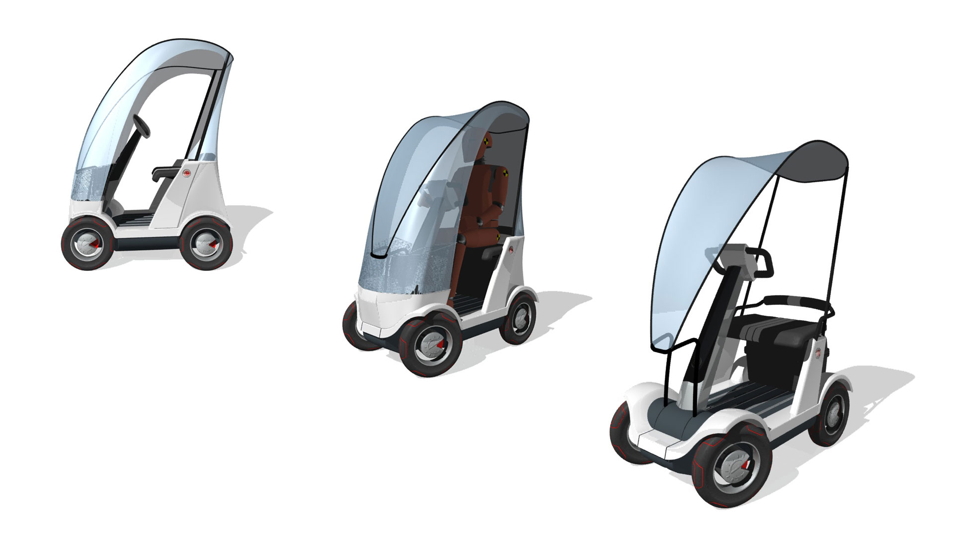 Industriedesign und Produktentwicklung für E-Mobility E-Scooter Verdeckvarianten Schlagheck Design.
